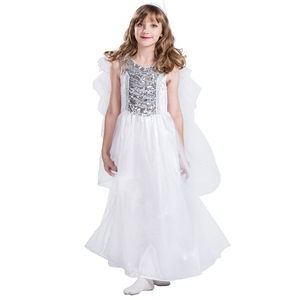 party costume fairy tale white angel costume for kids girls children