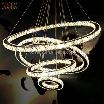 Diy Style Led Pendant Lights Round Crystal Hanging Lamp Led Light