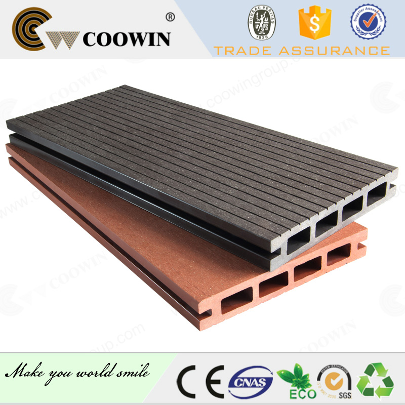 Wood plastic composite goat flooring