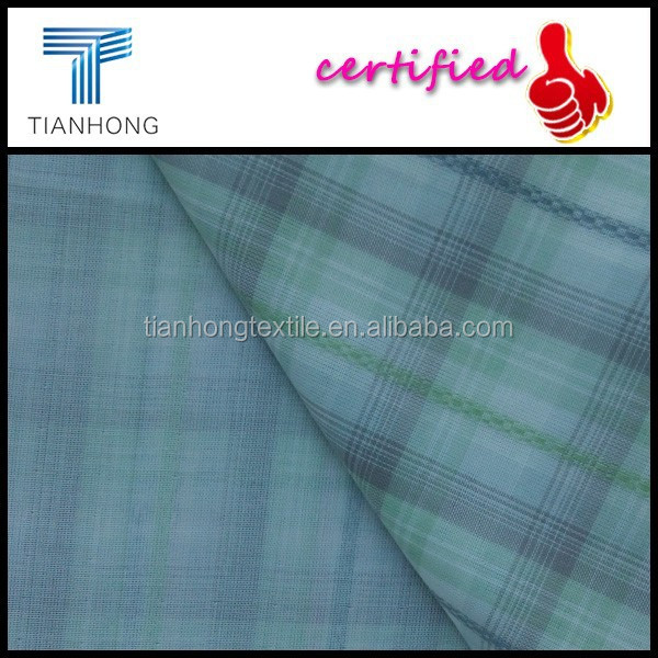 checked design 100 cotton double layer fabric for uniqlo pajamas/plaid pattern yarn dyed fabric/plain woven dobby style textile
