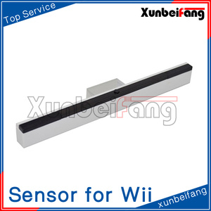 Wireless Infrared Ray Inductor Sensor Bar for Wii Console White
