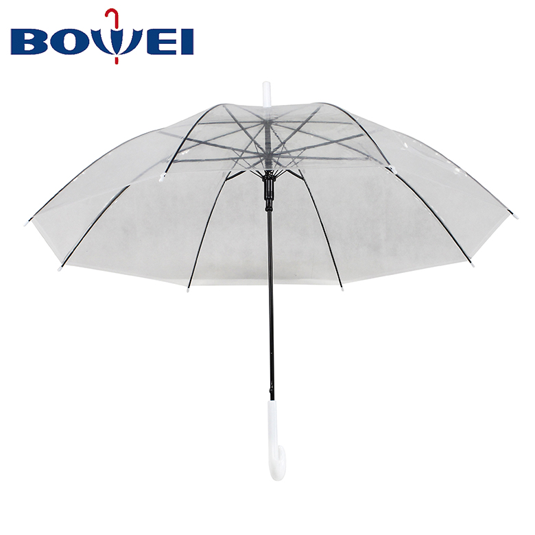 Custom promotional advertising wholesale cheap transparent umbrella