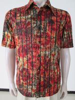 men's short sleeve flowers unique dress shirts