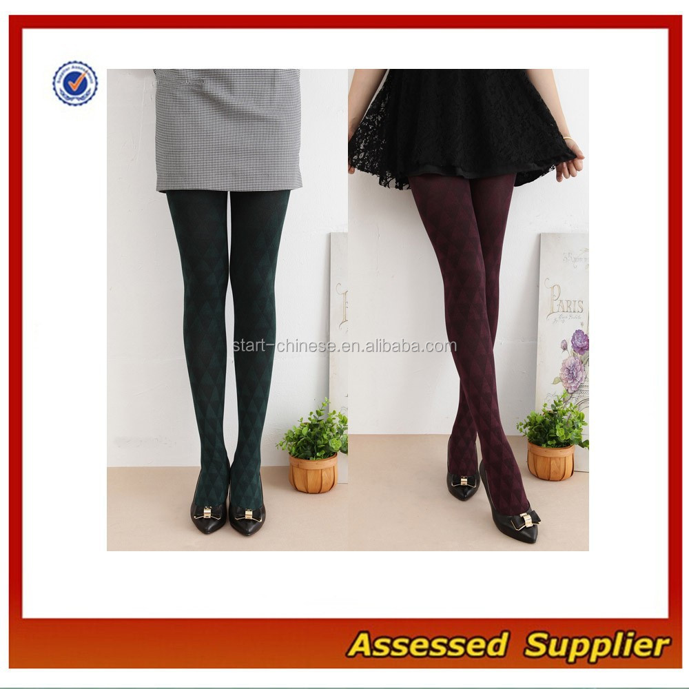 High Quality Japanese Women Wedding Ceremony Party Stocking Pantyhose/ Gradation Diamond Pattern Pantyhose MLL228