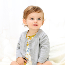 Cotton knitted cardigan for toddler,unisex infant baby cardigans sweatsuit