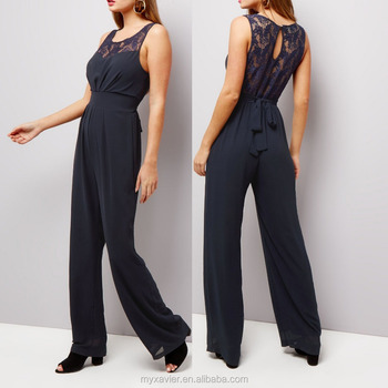 more photos in stock selected material 2017 Latest Designer Women Playsuit Navy Lace Panel Sleeveless Formal  Jumpsuits - Buy Designer Jumpsuit Women,Formal Jumpsuits,Jumpsuits Product  on ...