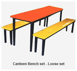 Stupendous Canteen Bench Table Set Ocoug Best Dining Table And Chair Ideas Images Ocougorg