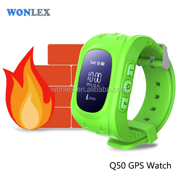Wonlex Hot sell Q50 Child GPS Bracelet Multi Function Smart Watch with GPS Chip/GPS Locator App Watch Phone For Kids