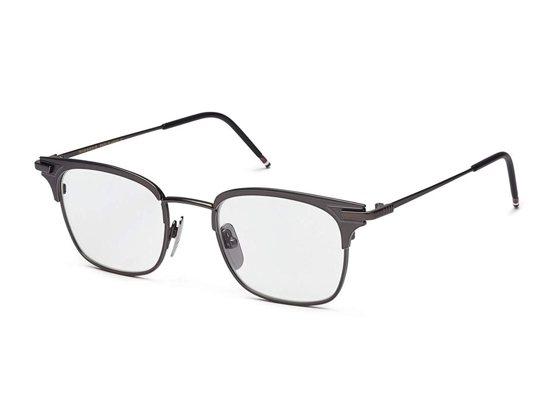 ffcdb835bdd Get Quotations · THOM BROWNE TB 102 B-BLK Black Iron Eyeglasses