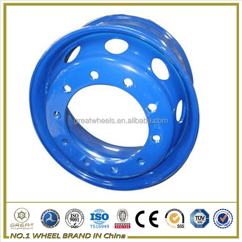 Steel Truck Wheel Rim / Lock Ring And Truck Rear Wheel