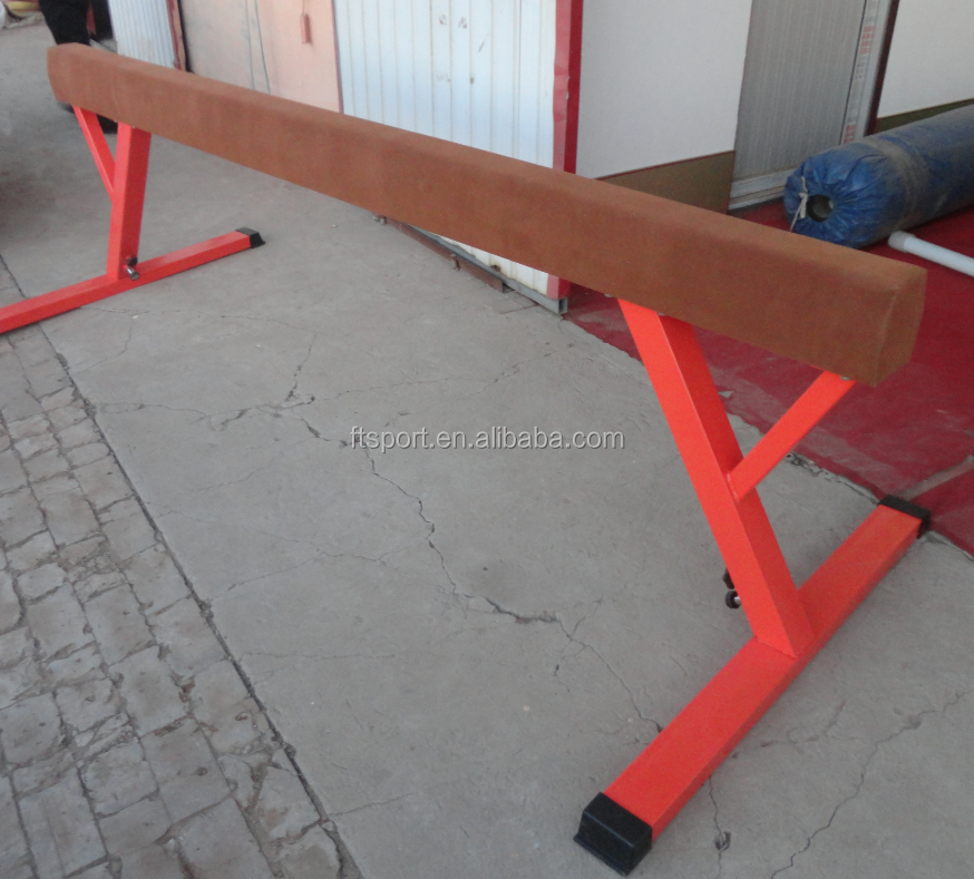 Tan Color Training Balance Beam Professional Wooden Beam For Sale