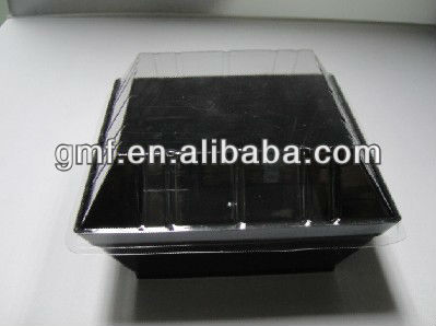 2013 hot sale popular black plastic food disposable container