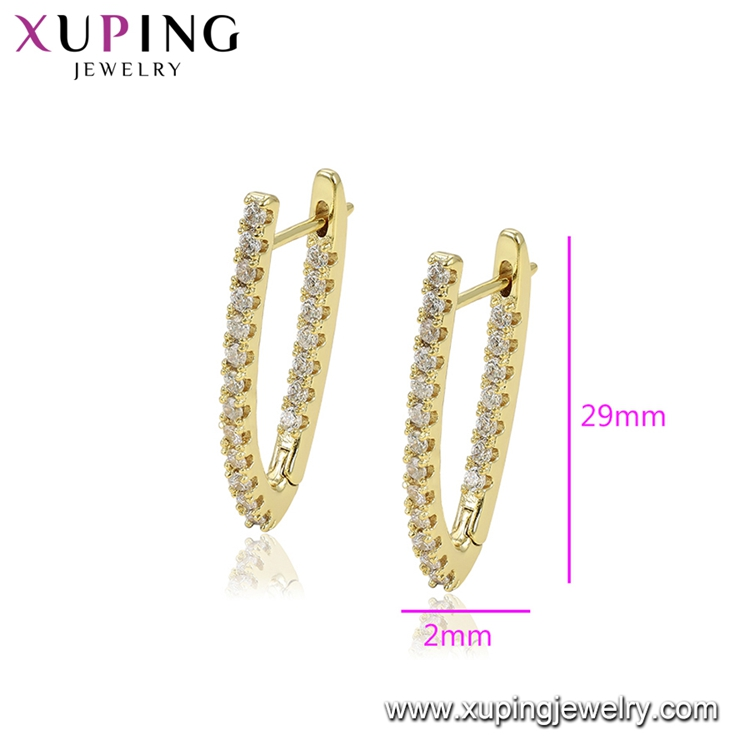 97445 xuping pakistan online indian gold plated jewellery, V earring