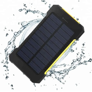 Portable Solar Power Bank 10000mAh Solar Charger Power Bank with Led Light