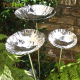 Stainless steel chalice garden lotus sculpture