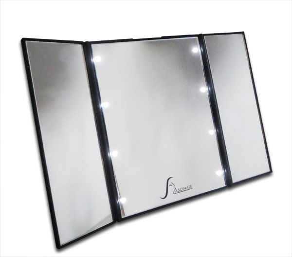 Rechargeable Ipad Folding Led Light Up Cosmetic Mirror