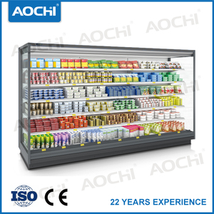 New style fruit refrigerated multideck display cabinet fruit display multideck open chiller for supermarket