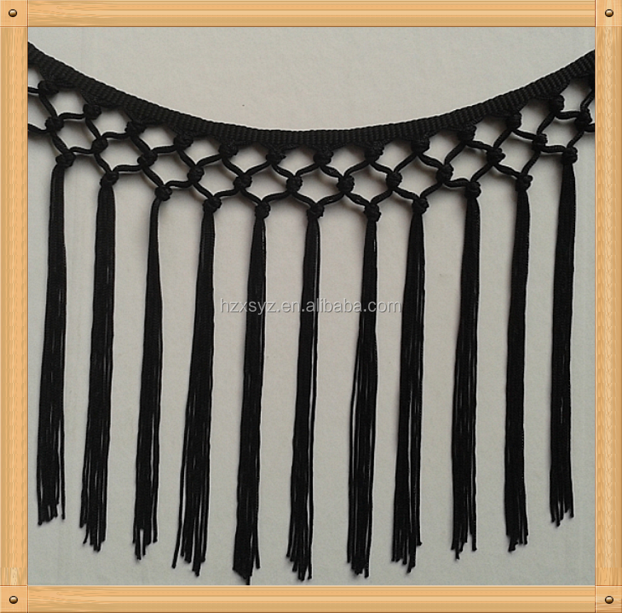Elegant Fashion Nylon Chainette Fringe With Trimming Used For ...