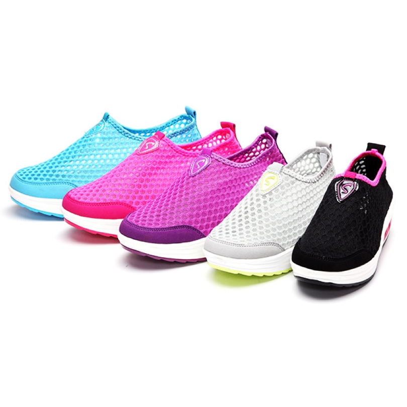 Mesh Breathable Athletic Platform Casual Sneaker