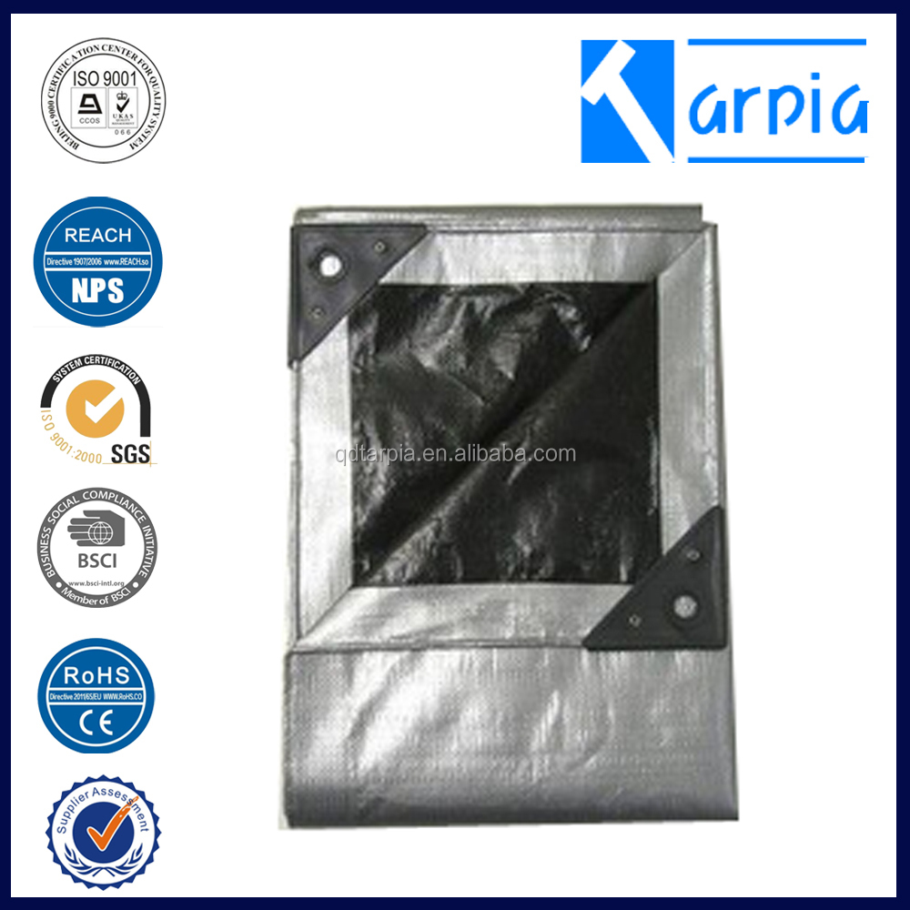 Black Silver agriculture PE tarpaulin for cover sheet
