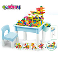 71PCS set kids plastic toy learning building blocks table
