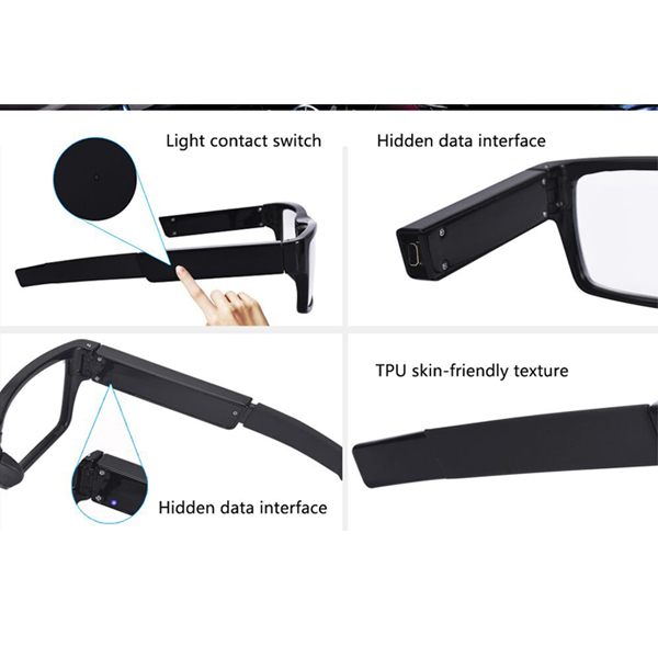China wholesale smart video glasses snapshot spectacles driving recorder sunglasses