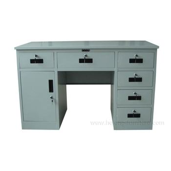 Commercial Portable Computer Table Executive Desk With Locking