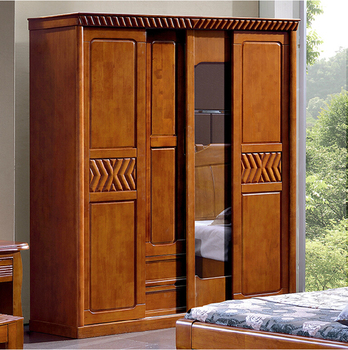 Modern Bedroom Wardrobe Cabinet With Solid Wood Carcass - Buy ...
