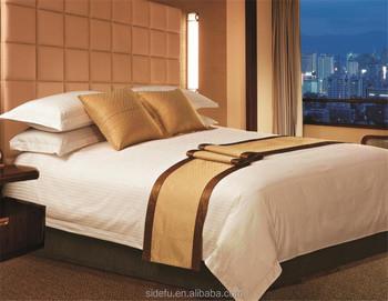 China Bedsheets Set Cotton Satin Stripe Bedsheets Hotel