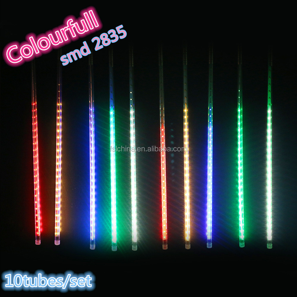 Chinese factory Multi color smd2835 80cm led rainfall light for tree decoration