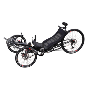 Free Shipping 27 Speed Long-distance Adults Travel Suspension Recumbent  Tricycle Pedal Exercise Bike Recumbent Trike Sale