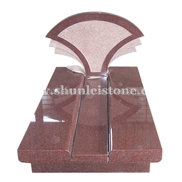 Hot sale red granite monuments with angle designs