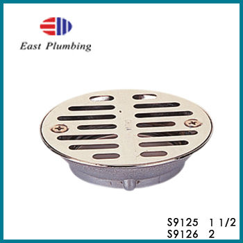 S9125 Eastplumbing Drainage Products perforated adjustable heavy duty brass or stainless steel round floor strainer