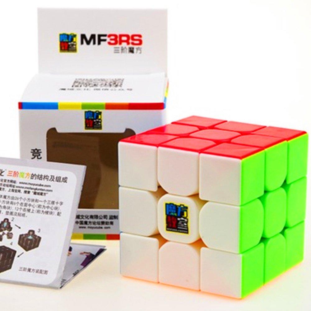 CuberSpeed Moyu MoFang JiaoShi MF3RS Stickerless Bright 3x3x3 Magic cube Cubing Classroom MF3RS 3X3 stickerless Speed cube