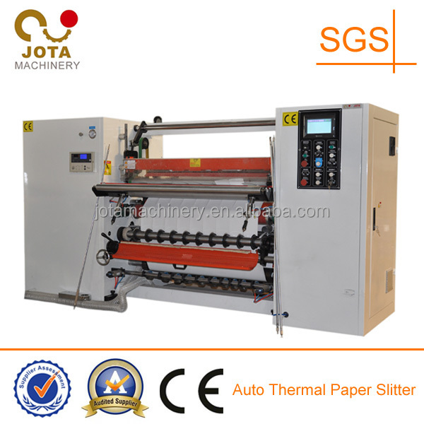 High Speed Cash Register Paper Slitter with Banana Roller, Plotter Paper Slitting Machinery, POS Roll Rewinder Machine