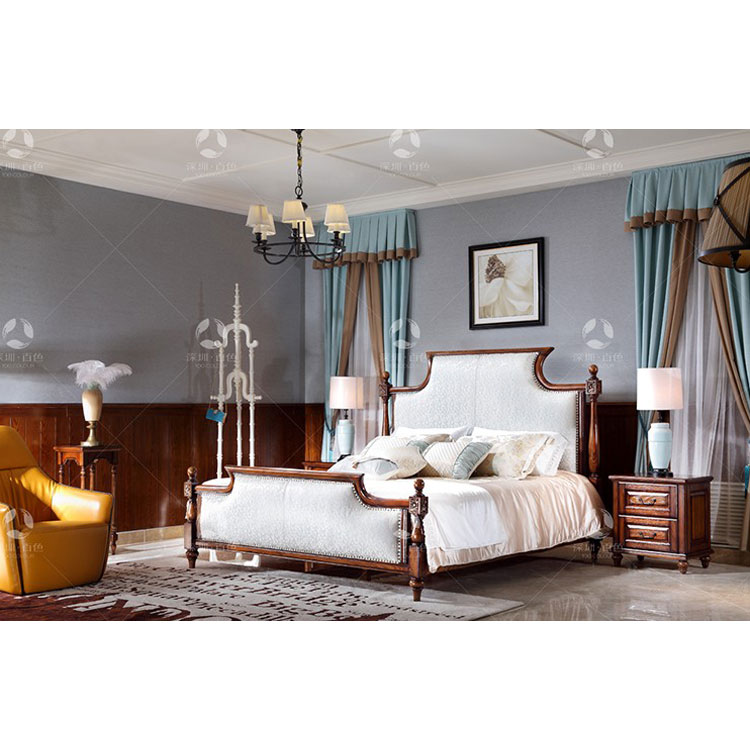 2017 New Classic French Luxury Style White Bedroom Sets/ Solid Wood King  Size Bed/home Furniture - Buy 2017 New Classic White King Size Bed,New ...