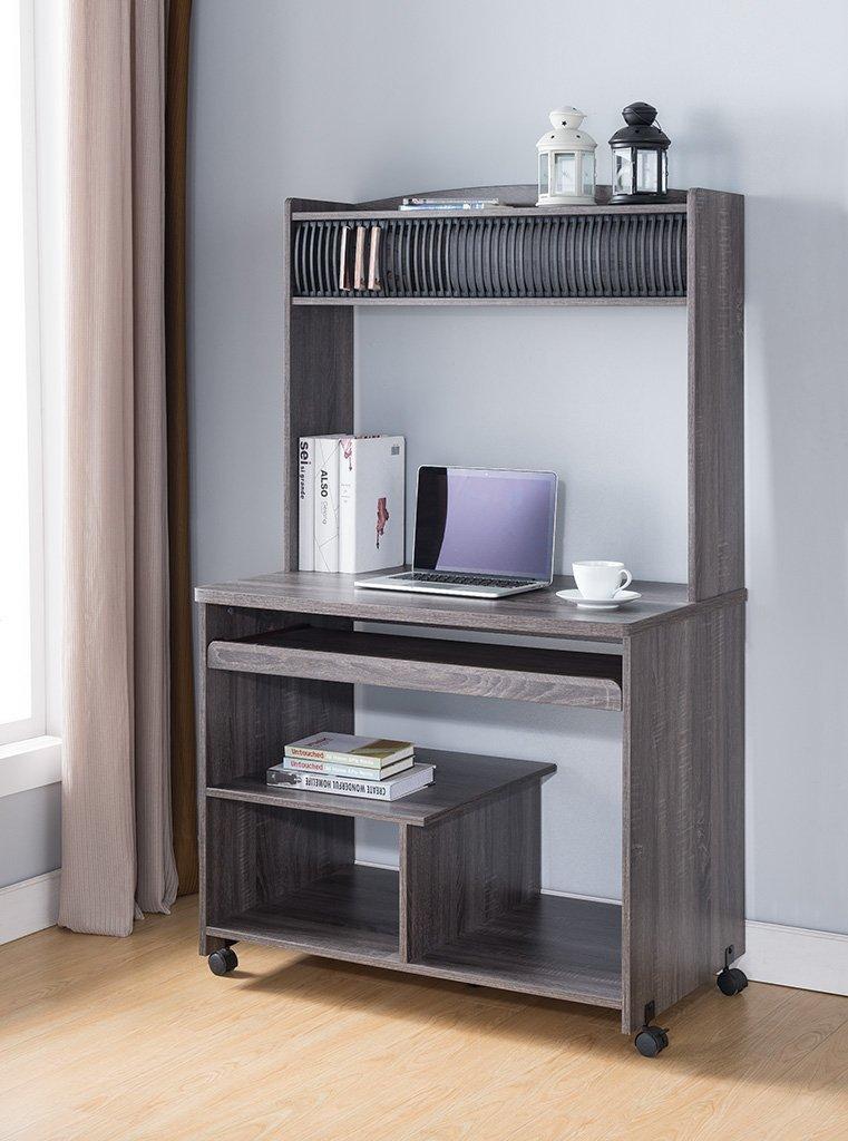 Smart Home Liam Desktop Tower Computer Desk (Large, Grey)