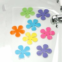 Fancy Non Slip PVC Mini Bath Mat, Flower Shaped Baby Bath Mat, Customized Bathtub Mat