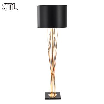 Iron decorative floor lamp Guangdong guzhen electroplating floor lamp Post-modern table lamp