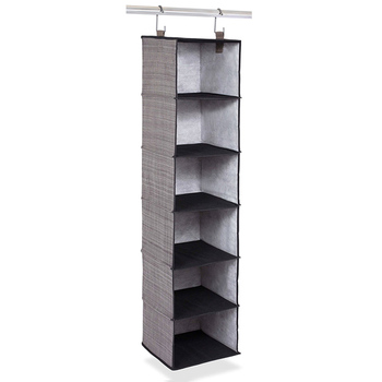 Folding 6 Shelf Multi Use Hanging Closet Organizer