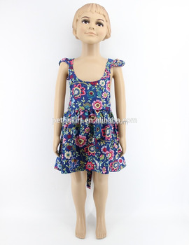 94963356eb44c Hot sale kids summer clothes baby cotton frock design pictures baby girl  boutique floral print cotton