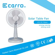 portable solar charger solar dc fan 12 inch 12V small solar powered fans