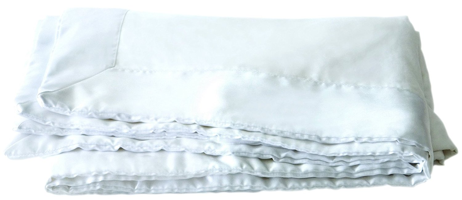 Mulberry West Premium Luxury Silk-Filled Polished Cotton Blanket, King