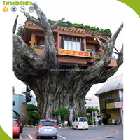 Rich experience large plastic prefab tree house wooden artificial tree house for Vacation