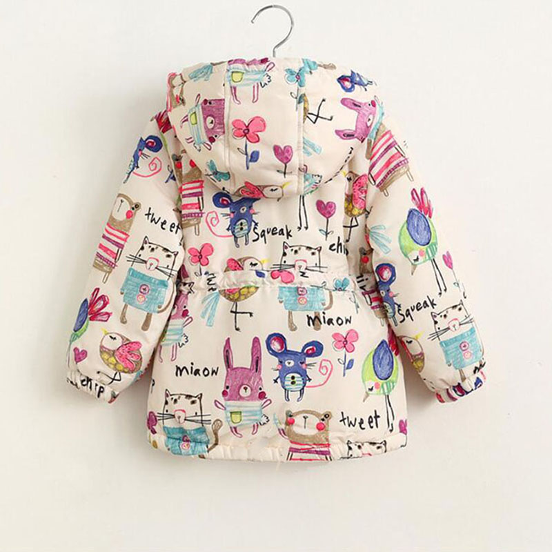 bcad86bd1849a Winter-Kids-Jackets-And-Coats-Girls-Graffiti-Parkas-. Warm jacket for girl  ...