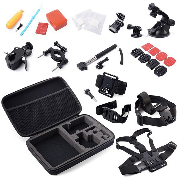 Gopro Accessories Set 30in1 Storage Bag Chest Head Strap Floaty Monopod Tripod