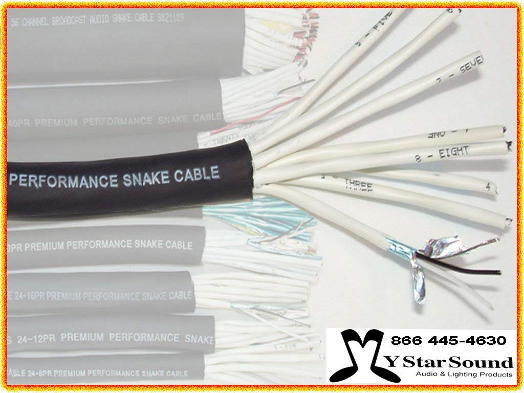 32 Pair Snake Wire / Cable USA Made - 24 Gauge Premium Performance (Sold in 5 Ft Increments)