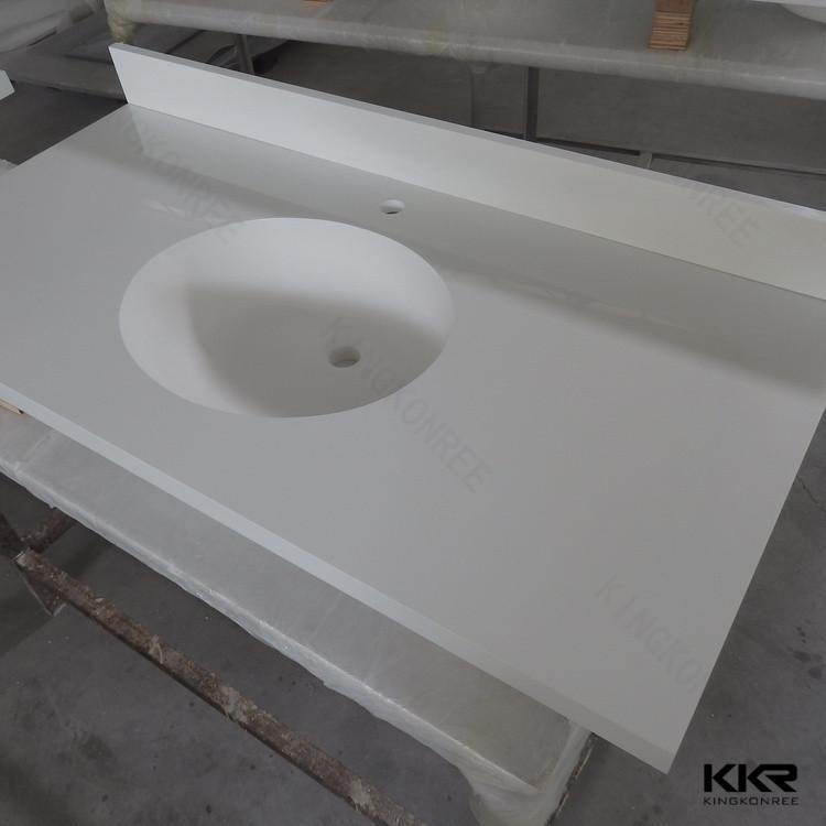 Prefabricated Bathroom Countertops: Prefabricated Solid Surface Banjo Countertop