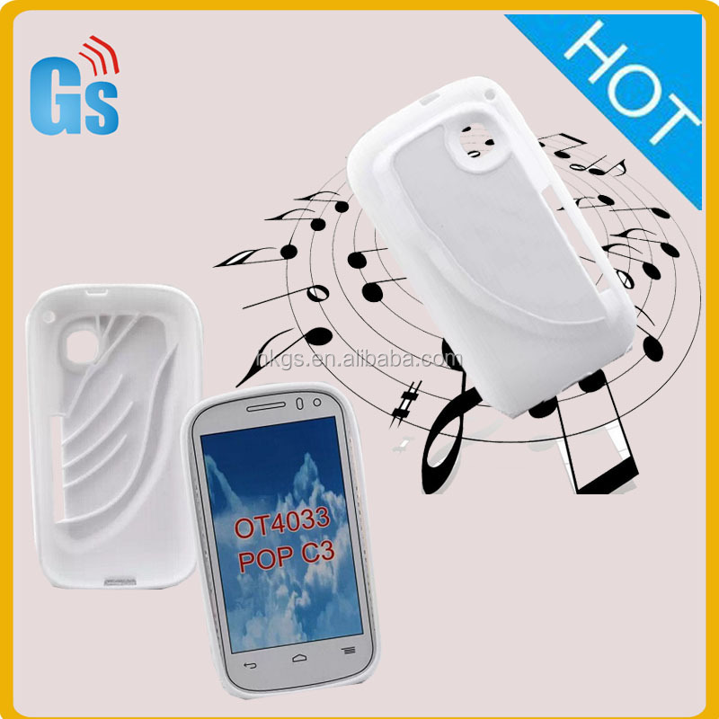 Interesting Gift Loudspeaker Tpu Silicone Case Cover For Alcatel One Touch Pop C3 4033 4033D