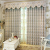 luxurious curtains with valance